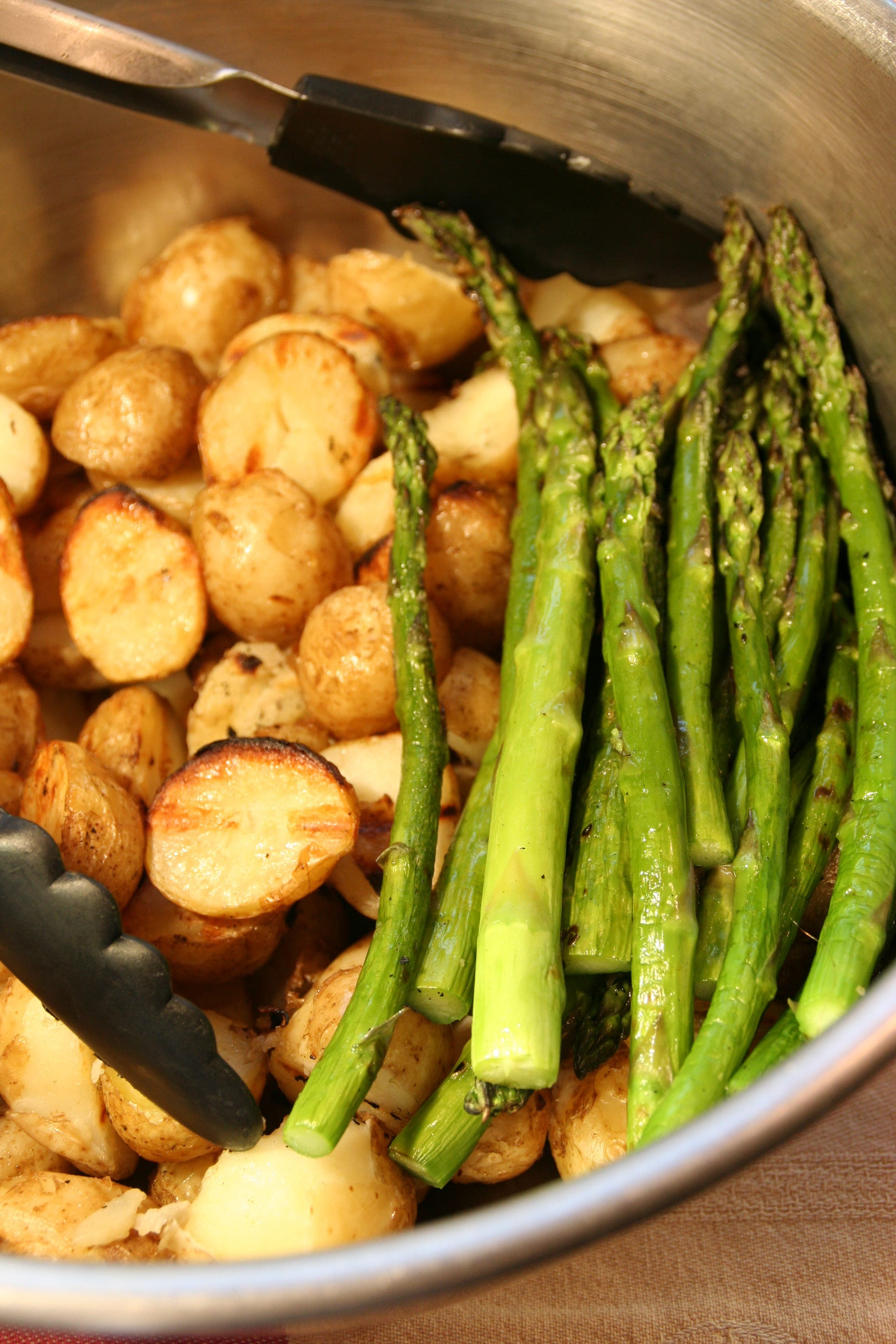 Grilled New Potatoes and Asparagus