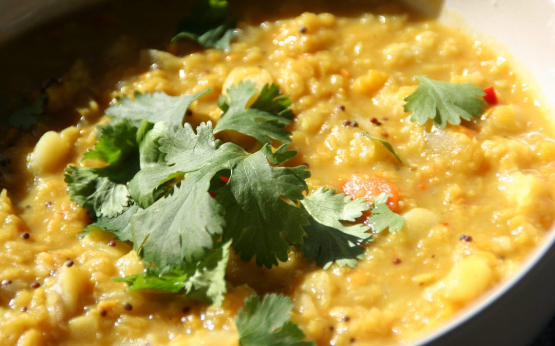 Fresh Turmeric, Both Authentic and Healthy, and a Recipe for Dal