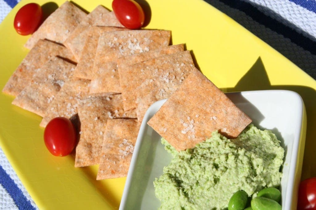 Veggie Crackers and Edamame Schmear from Crackers and Dips