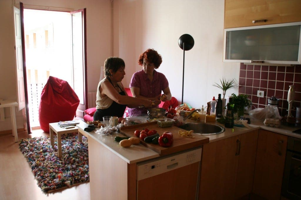 In our lovely apartment, cooking with Isabel Celma