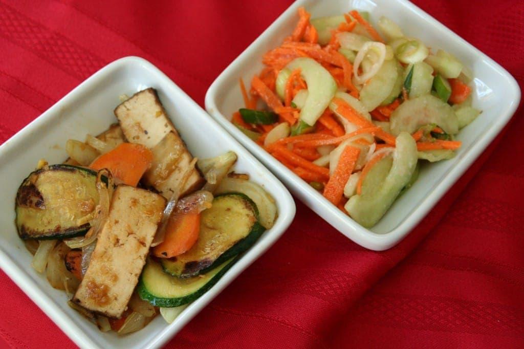 Soy Koji Vegetables and Tofu, and Salt Koji Pickles