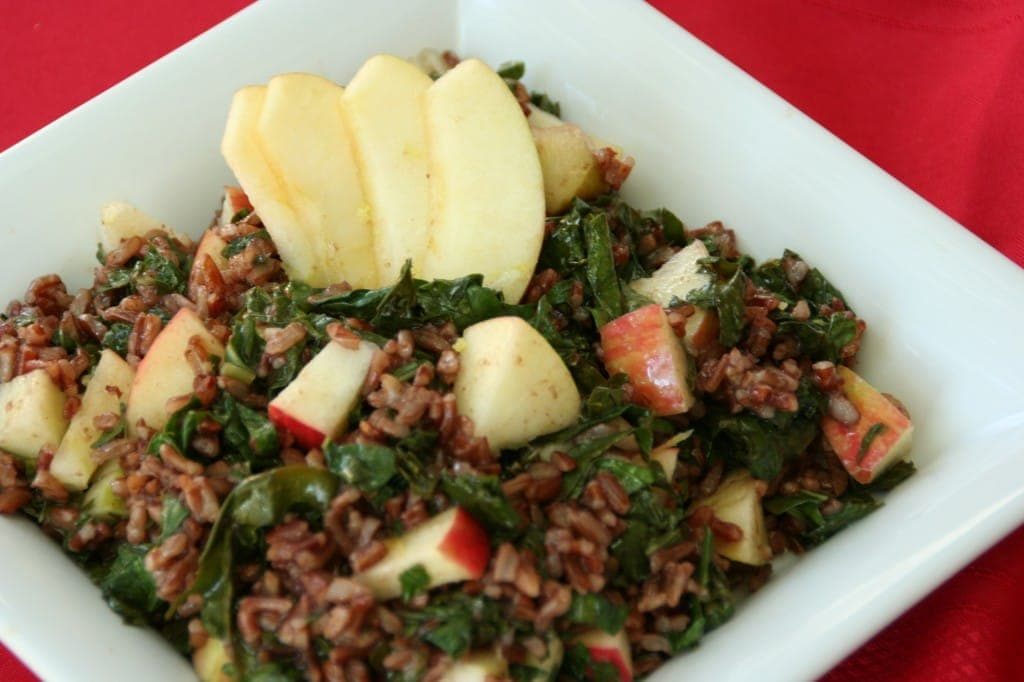 Honeycrisps, Kale and Red Rice