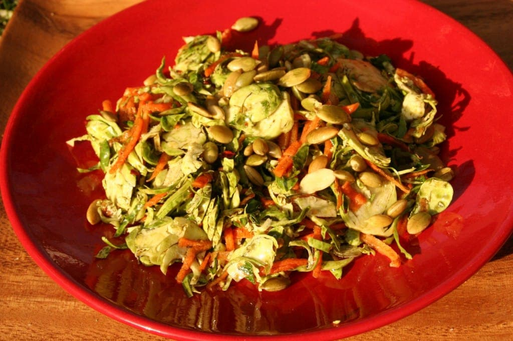 Brussels Sprout and Pumpkinseed Slaw