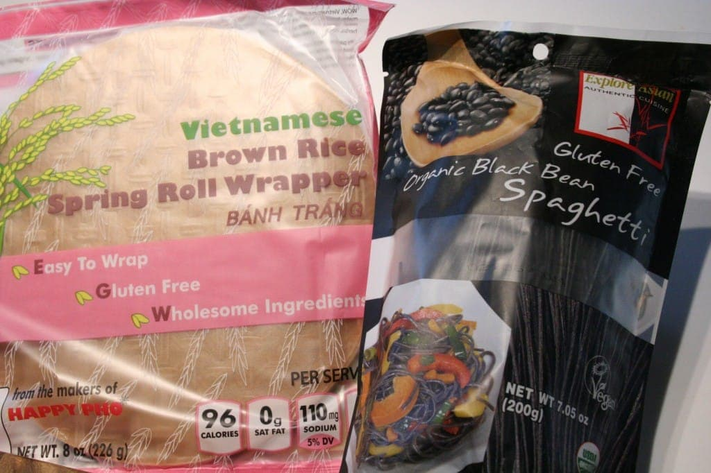 Brown Rice Papers and Black Bean Noodles