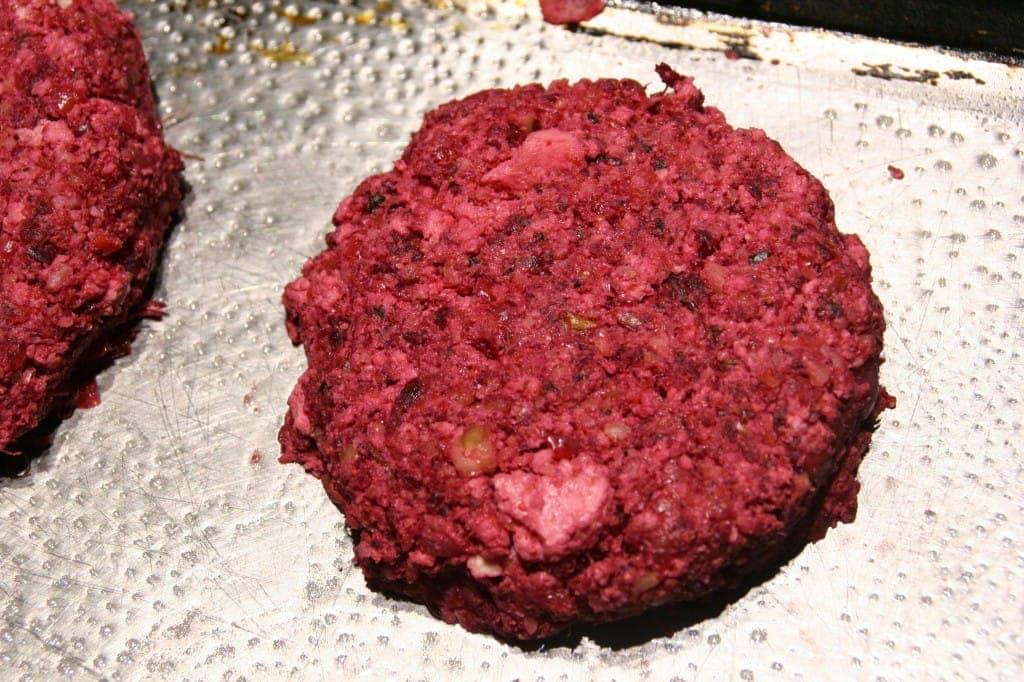 Walnut Beet Burger Before Baking