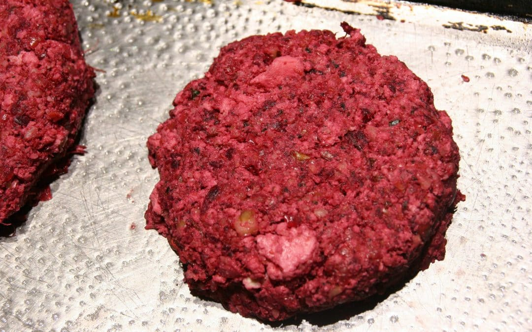 Walnut- Beet Pulp Burgers to Use that Leftover Juicer Pulp, Deliciously
