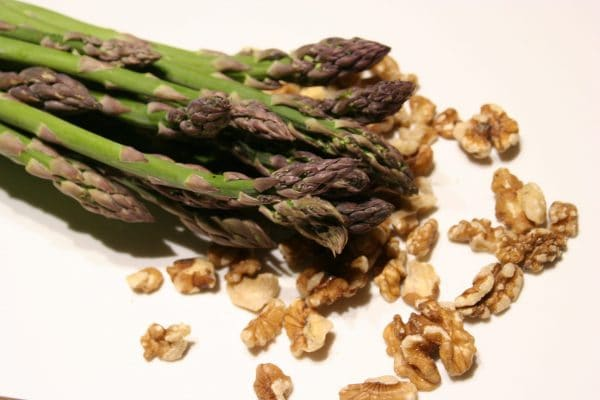 Local Asparagus and Walnuts