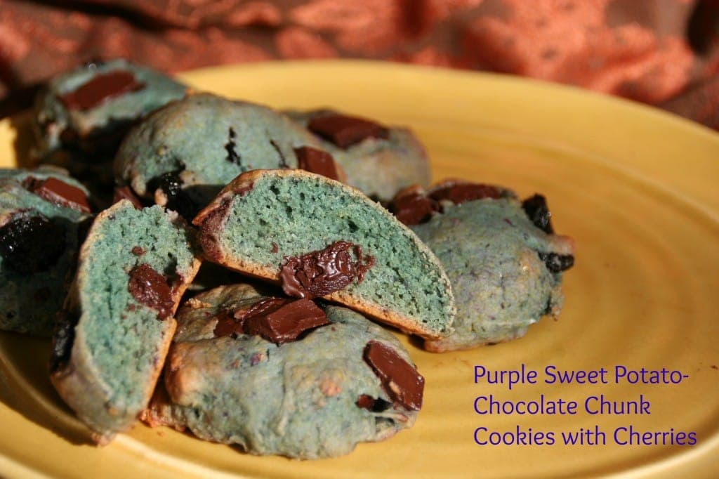 The Purple Mixes with Flour for a Light Blue Hue!