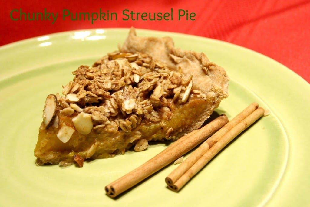 Naturally Sweetened, Whole Grain, Fresh Pumpkin Pie