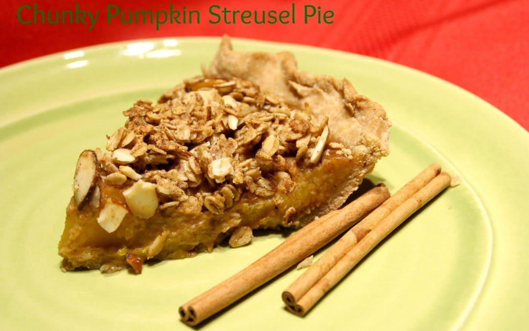 Vegan Chunky Pumpkin Streusel Pie