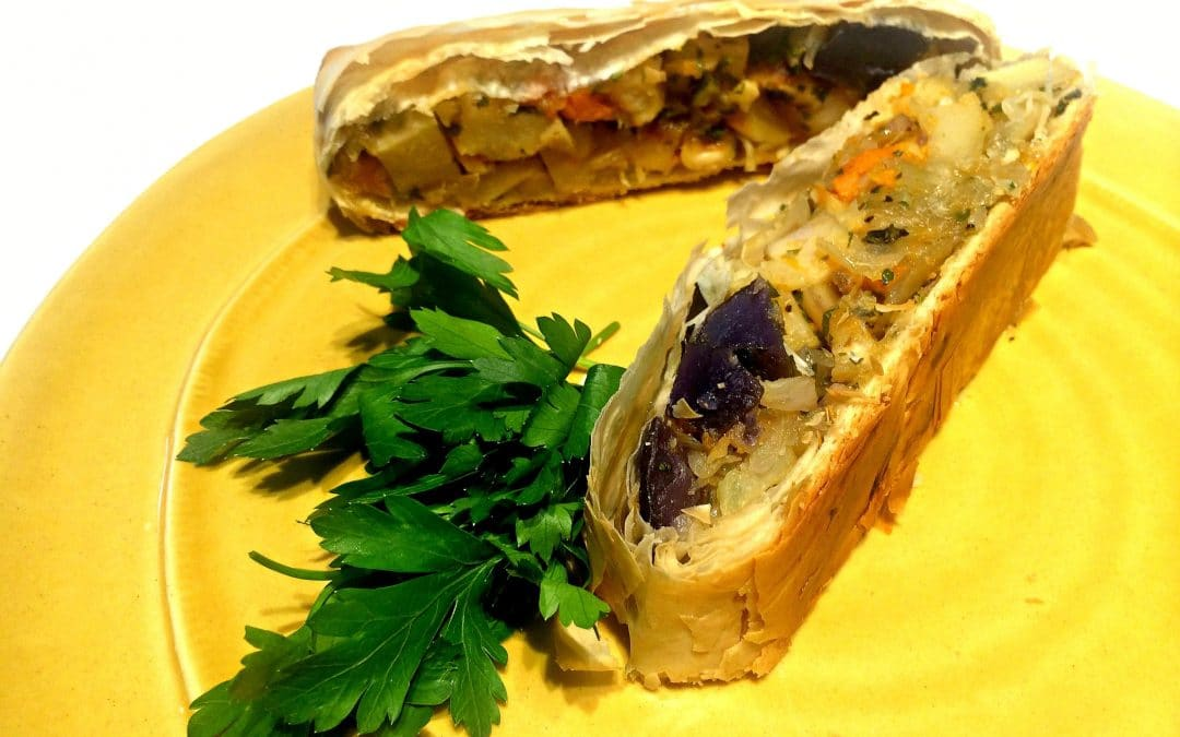 A Savory Roasted Veg Strudel for the Holiday