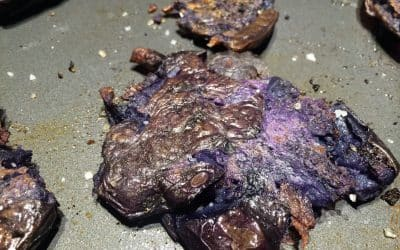 Bashed Blue Potatoes for an Easy Appetizer