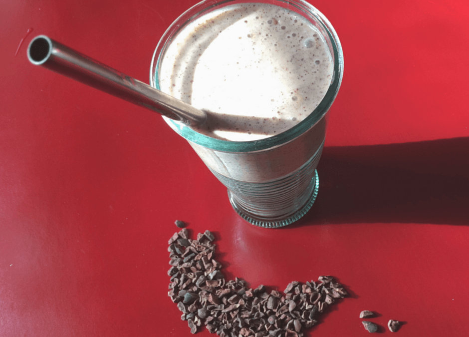 A Cacao Nib and Peanut Butter Smoothie for Good Energy
