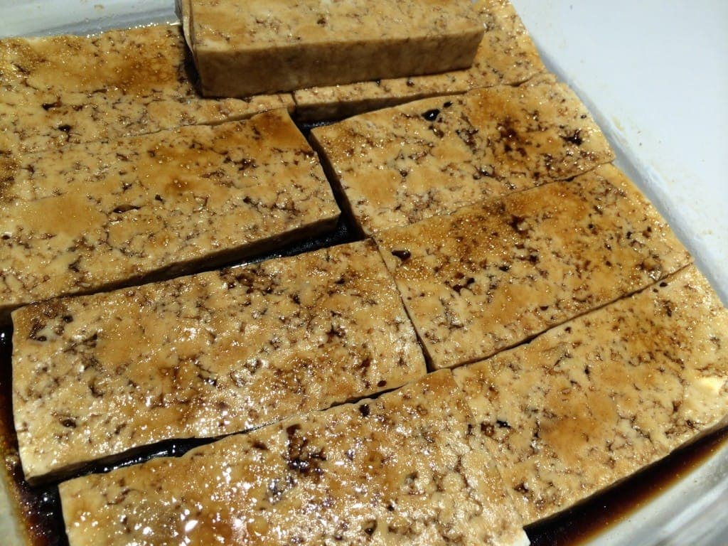 Tofu Marinating for the Grill