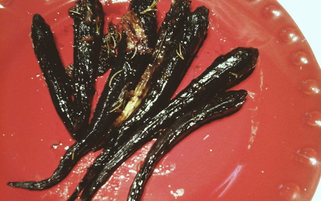 Add Color To Life with Roasted Purple Carrots with Orange and Rosemary