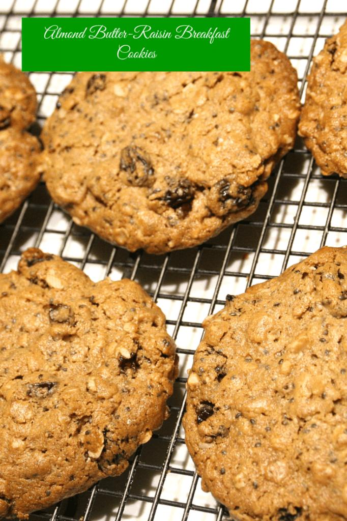 Almond Butter Raisin Breakfast Cookies #vegan #wholegrain (1)