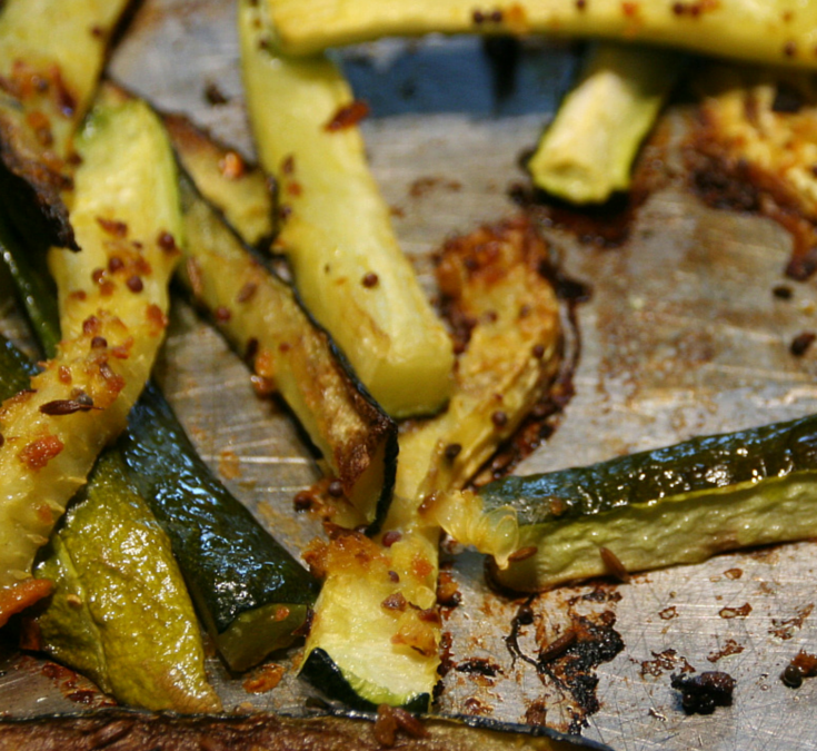 Turn up the Heat for Roasted Zucchini with Fresh Turmeric and Spices