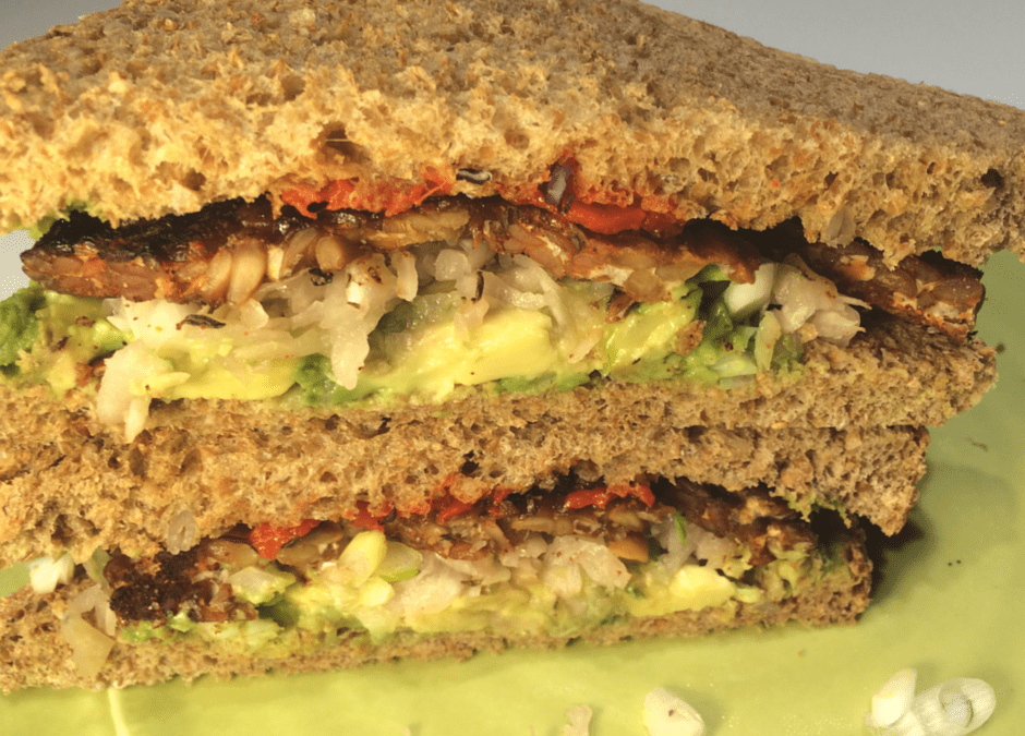 Learn to Love Tempeh with Smoked Salt Rubbed Tempeh and Kraut Sandwiches
