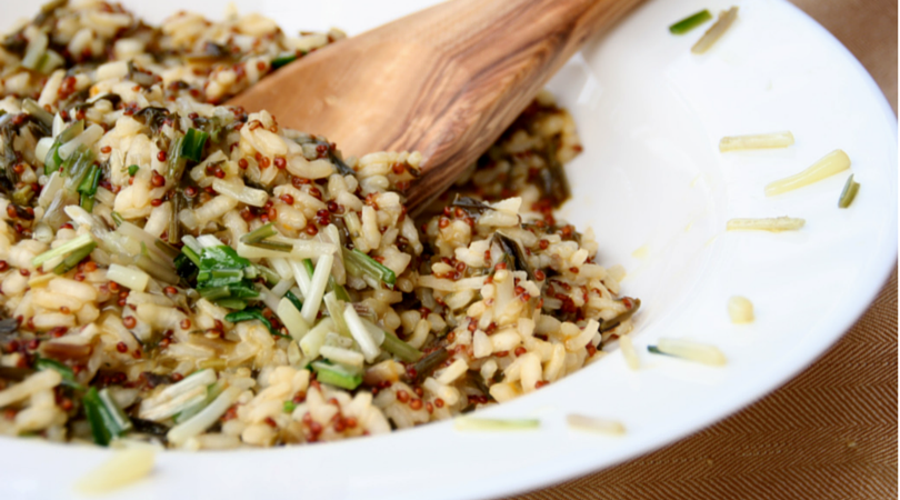 Ramp and Sorrel Risotto with Red Quinoa #vegan #wholegrain