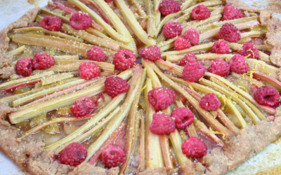 Rhubarb Raspberry Tart with Red Fife Crust, Slap Me Awake