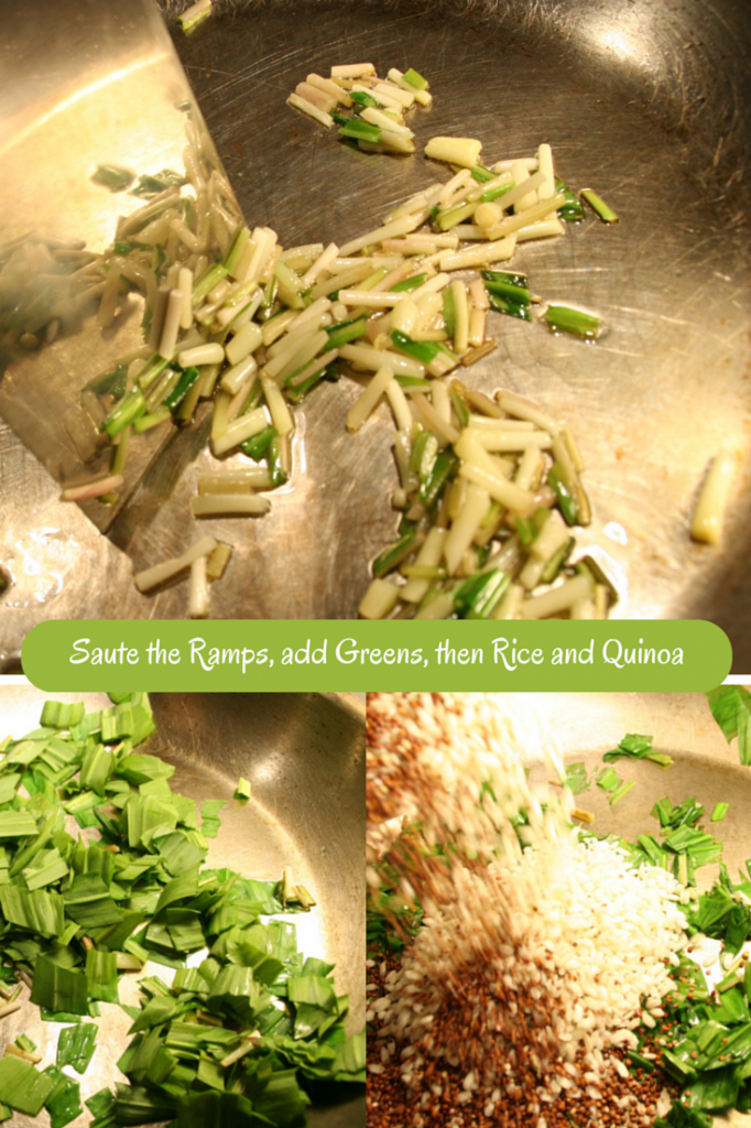 Infuse the Rice with Ramp Flavor