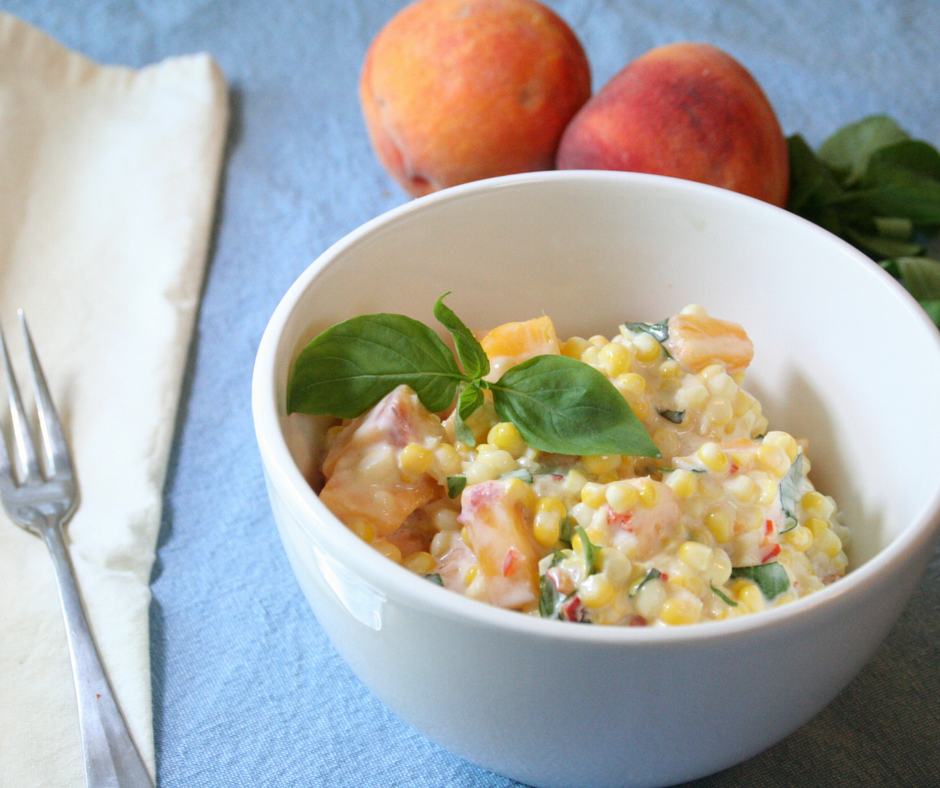 Peach and Sweetcorn Salad #vegetarian #vegan #glutenfree (2)
