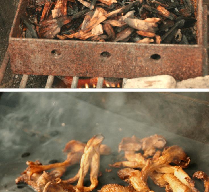 Smoked Oyster Mushroom Bruschetta, Fun with The Grill