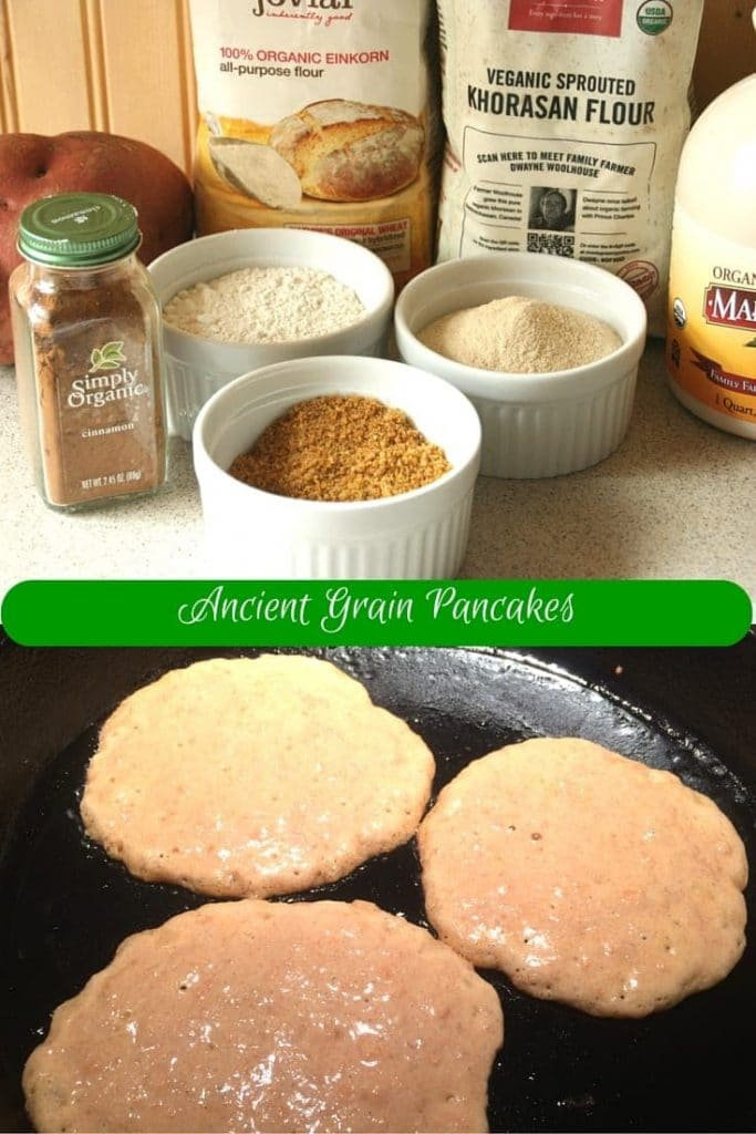 Ancient Grain Pancakes #sharewholegrains #wholegrains #vegan