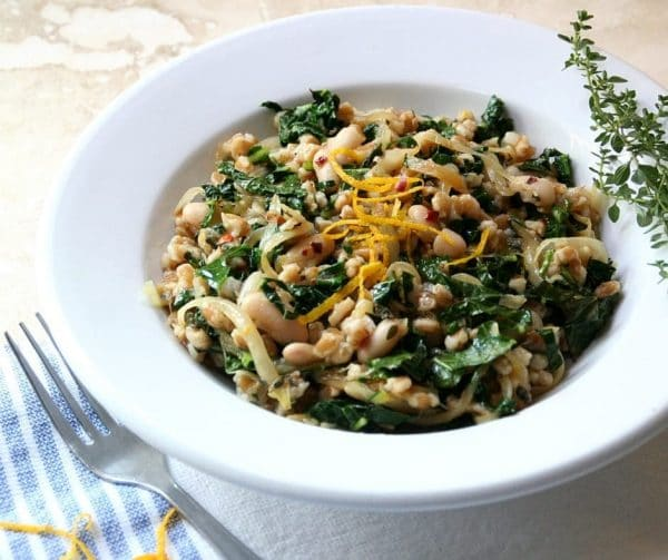 Chewy, Hearty Farro with a Hint of Orange