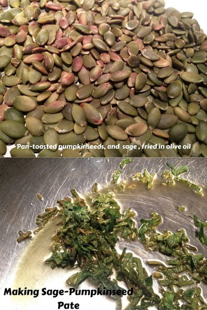 Dry-toasted seeds and Sage in Olive Oil