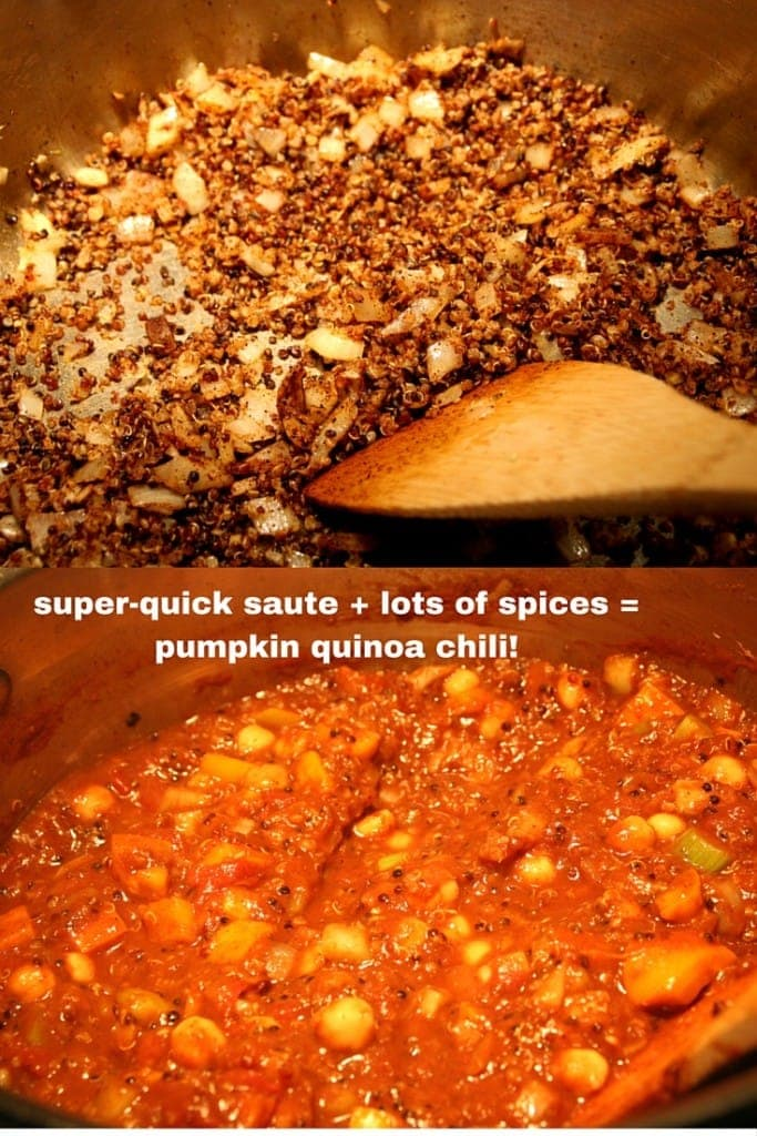 Pumpkin Quinoa Chili #tasty #recipes #wholegrain #vegan