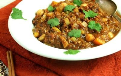 Pumpkin Quinoa Chili, for Pre-Holiday Energy