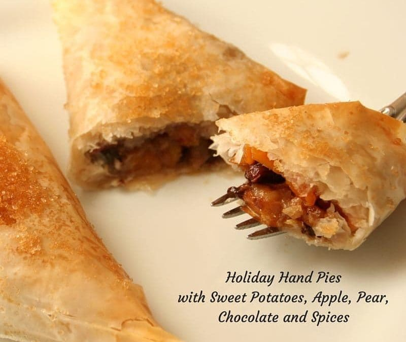 Holiday Hand Pies, Stuffed with Sweet Potatoes, Fruit and Chocolate