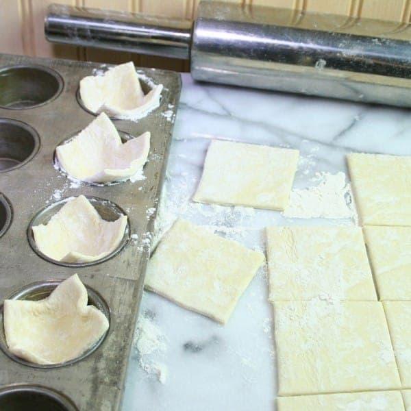 Make the little puff cups in a mini muffin pan