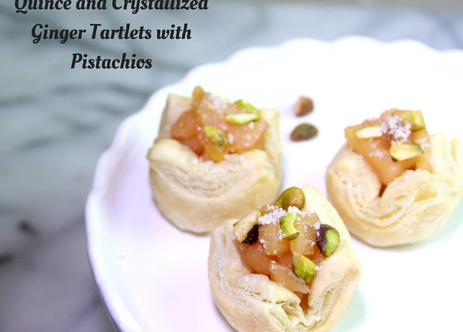 Kick off 2016 with Quince and Crystallized Ginger Tartlets