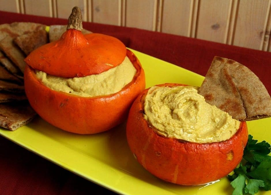 Baby Squashes Filled With Creamy Squash Hummus, Kick Off Your Veganuary