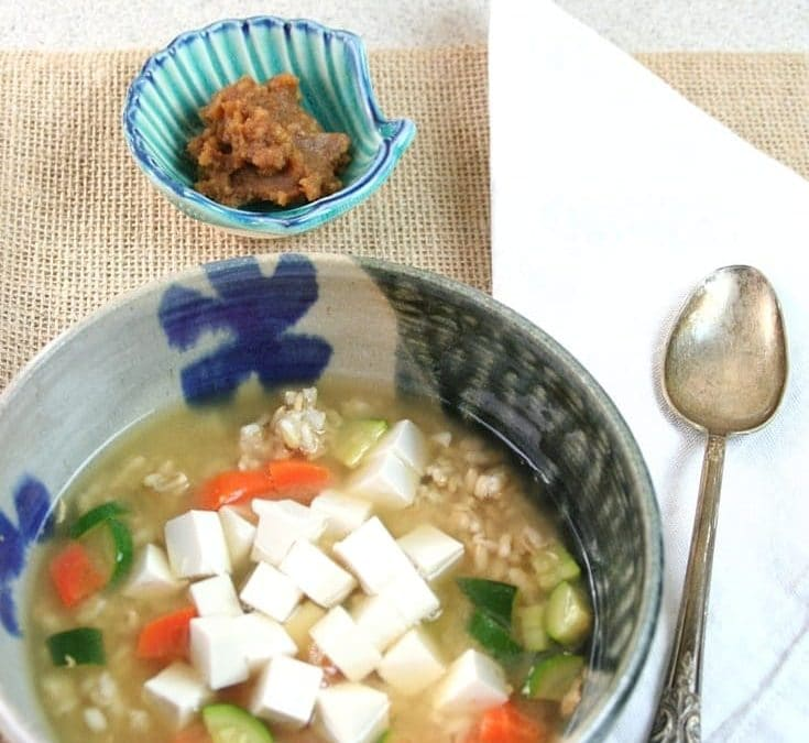 Miso Soup For Breakfast-One Way to Eat Your Oats