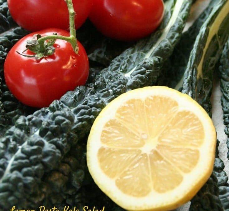 Celebrate Stress Awareness Month with Pesto Kale Salad