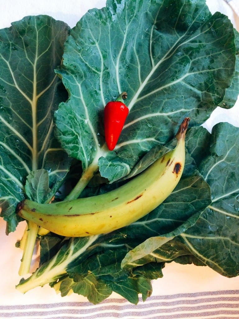 Collards, Chiles and Plantain