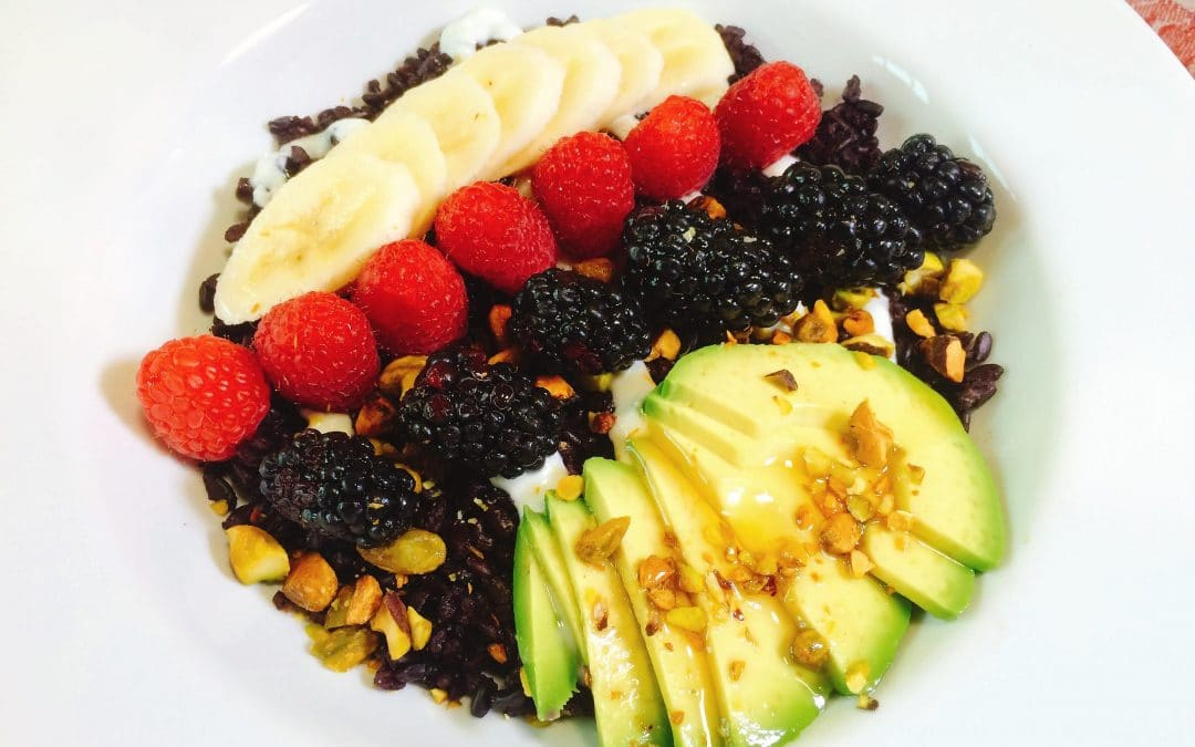 Maple, Avocado and Berry Breakfast Bowl