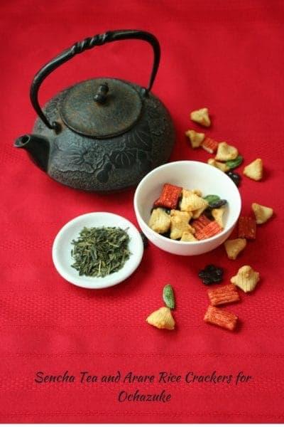 Sencha Tea and Arare Rice Crackers for Ochazuke #bowls #wholegrain #tea #yum #food