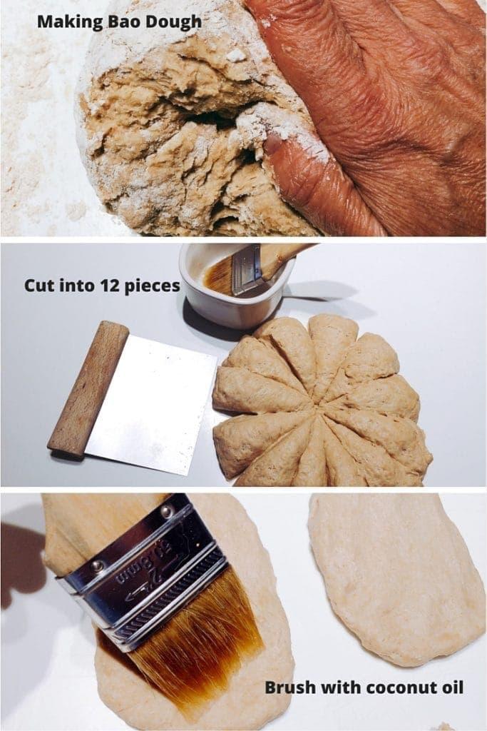 Making Bao Dough for Tofu Bao with Black Bean Sauce #bao #dim sum #buns #vegan #vegetarian