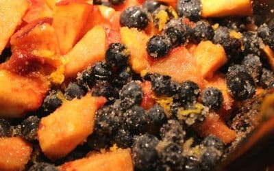Blueberry Peach Bars with Spelt, Celebrate Ancient Grains