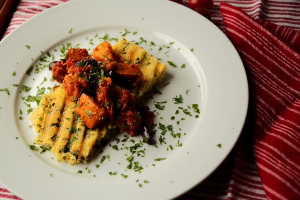 Put your polenta in a panini press!
