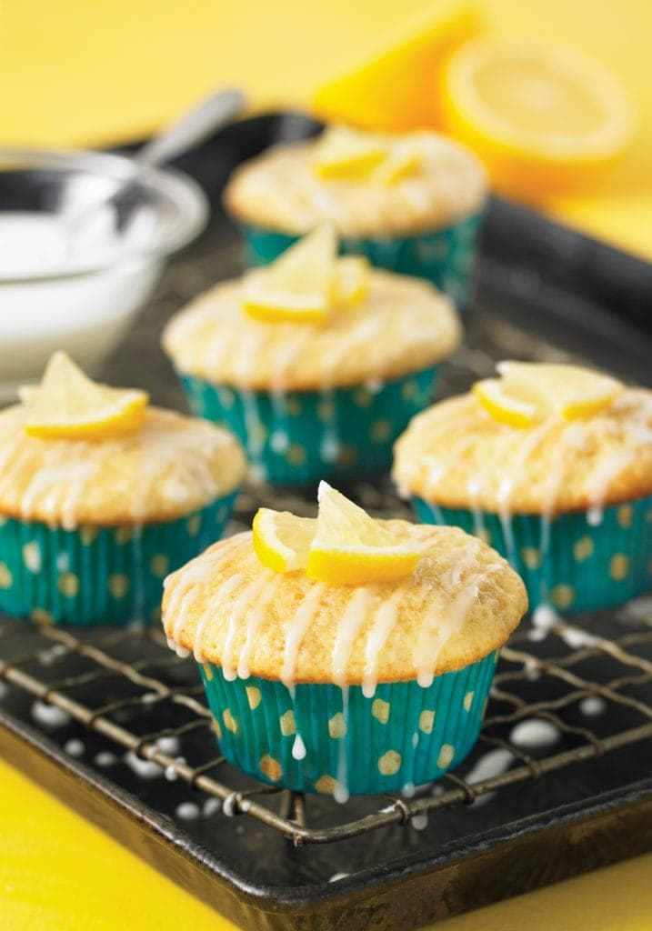 Pear Lemon Cupcakes by Robin Asbell