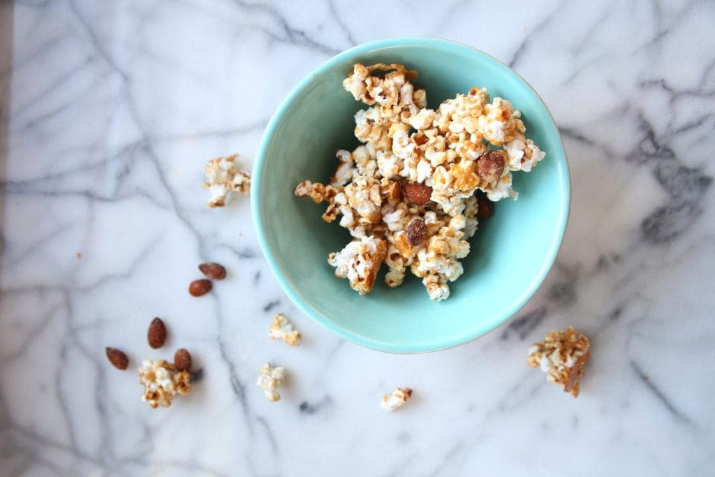 smoky Salty Almond Popcorn
