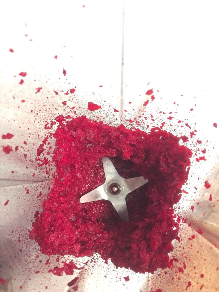 Mincing Beets in the Vitamix
