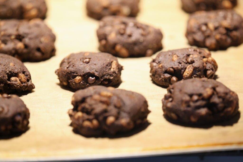 Chocolatey Crispy Energy Cookies