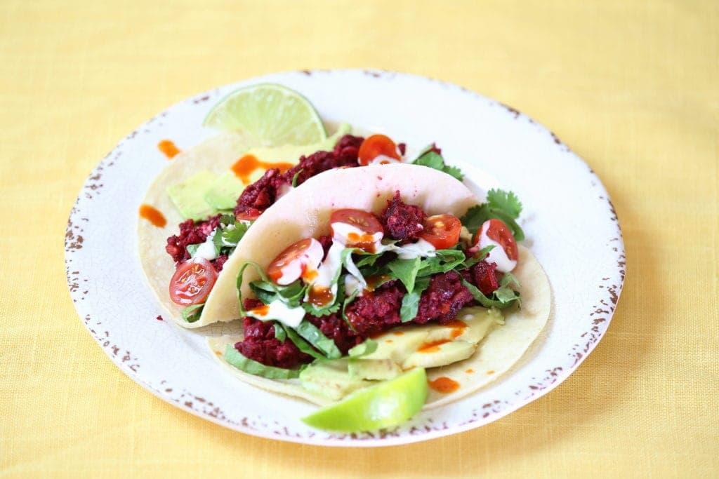 Walnut Beet Tacos