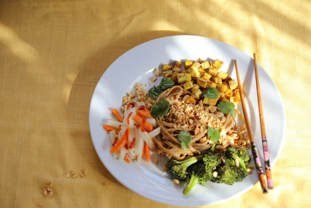 Throw together Comfort Food with Easy Peanut Noodles by Robin Asbell